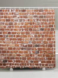 brick wall design 2018 brick wall design anti bacteria shower curtain brown w inch l