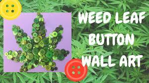 Stoner Home Decor Diy Button Canvas Wall Art Room Decor Youtube