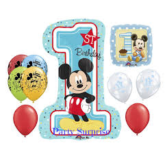mickey mouse 1st birthday boy 1st birthday boy mickey mouse balloon package baby boy 1st