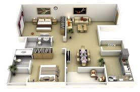 Home Design 3d Floor Plans by Plan Of Two Bedroom Flat Ideas 3d 2 Bedroom Apartment House Plans