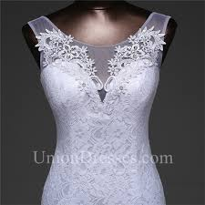 Elegant Mermaid Illusion Neckline Corset Lace Wedding Dress With
