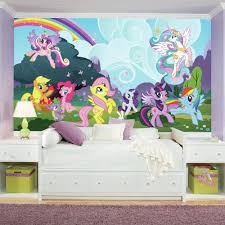 Girls Murals by Roommates 72 In X 126 In My Little Pony Ponyville Xl Chair Rail