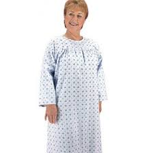 elderly nightgowns silvert s snap back adaptive flannel nightgown