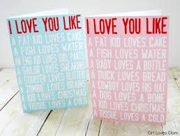i love you like printable valentine cards loves glam