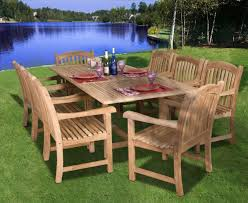 Cheap Patio Dining Sets - teak newcastle 9pc teak outdoor patio dining set