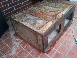 old doors made into coffee tables coffee table built from old 5 panel doors by ryansprojectvintage