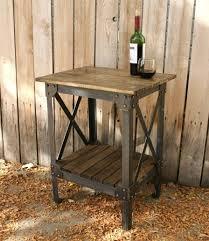 wood metal end table top modern metal and wood end table regarding house remodel 1pop info