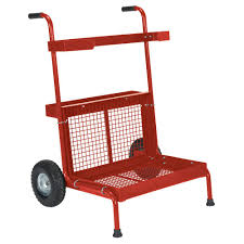 Utility Dolly Home Depot by Snap Loc 1 500 Lb Capacity Air Ride Panel Cart Dolly In Red