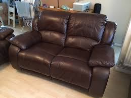 2 Seat Leather Reclining Sofa by Harveys Vida Living Primo 2 Seater Leather Recliner Sofa Old