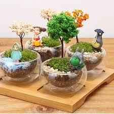 totoro tree simulation mini pot culture resin craft landscape home