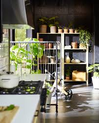 tips for a modern swedish kitchen a swedish kitchen with lots of plants growing in the background