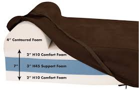 clearance large chocolate bed headrest edition big barker clearance large chocolate bed headrest edition