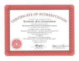 kentucky accredited firefighter certification program