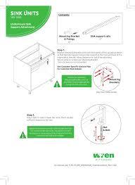 how to fit wren kitchen base units wren kitchens 500 1000 undermount sink support user manual