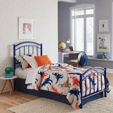fashion bed group rylan cadet blue full kids bed with metal duo