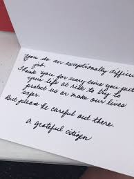 one of our wonderful donors out thank you cards to all of our