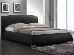 Cheap Leather Bed Frame Napoli Black Faux Leather Bed Sleepland Beds