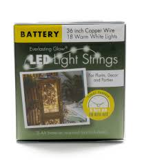 everlasting glow led lights everlasting glow led light strings battery operated 36 inch cooper