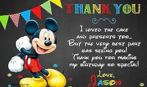 mickey mouse thank you cards duffycards thank you cards