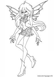 dark bloom winx club coloring pages printable