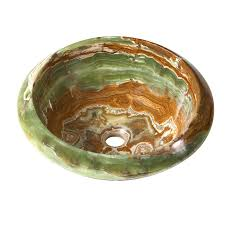 shop decolav a perfect chisel green brown stone above counter