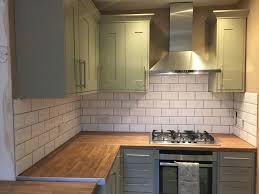 Benchmarx Somerset Olive Green Kitchen Topps Tile White Metro Tile - Olive green kitchen cabinets