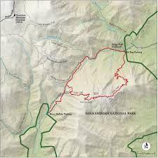 Virginia Mountains Map by Best Shenandoah National Park Hike Trail Map National Geographic