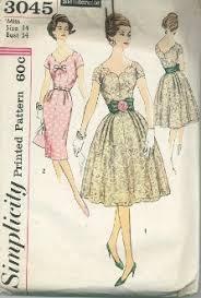 v shaped dress pattern an original ca 1959 simplicity pattern 3045 dress has bodice and