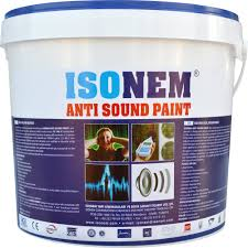 acoustic sound insulation building wall paint providing sound