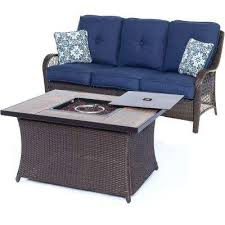 fade resistant wicker patio furniture blue fire pit sets
