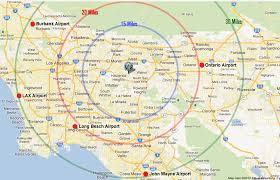 Map Of Airports Usa by Los Angeles Resorts Area Map Pacific Palms Resort