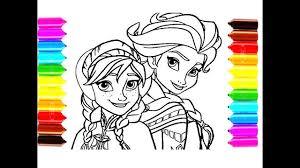 draw color frozen elsa anna coloring pages