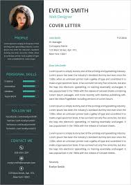 graphic design resume cover letter examples
