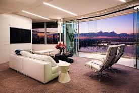 white sofas on the brown carpet best apartment desıgn with glasses