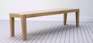 infinity solid oak or walnut dining bench bespoke sizes
