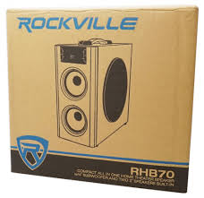 compact subwoofer home theater rockville rhb70 home theater compact powered speaker system w