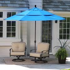 11 Patio Umbrella 11 Ft Tilting Patio Umbrella With Pacific Blue Canopy Shade