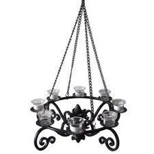 outdoor gazebo chandelier lighting allen roth 19 in h black metal outdoor decorative lantern hang from