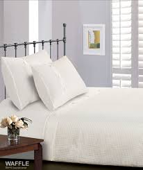 white super king bed size waffle print 300 thread count luxury