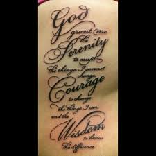50 moving serenity prayer tattoo designs inkdoneright