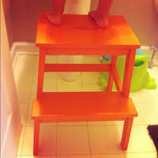 Ikea Bekvam Stool by Everywhere Orange Orange Step Stool
