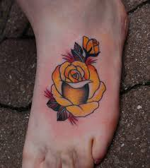 small rose tattoos on foot flower tattoos archives great tattoo