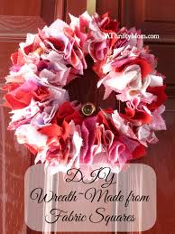 diy wreath made from fabric squares athiftymom com wreaths to