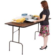 standing height folding table correll cfs3072px 01 high pressure laminate top standing height