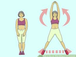 Computer And Desk Stretches 3 Ways To Exercise While Sitting At Your Computer Wikihow