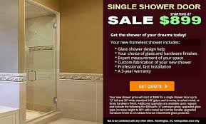 The Shower Door Single Frameless Shower Doors Dulles Glass And Mirror
