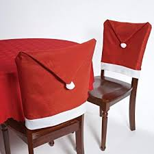 christmas chair covers christmas house 20 santa hat chair covers set of 4