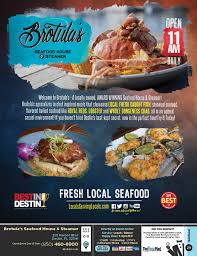 Florida Map Destin by Brotula U0027s Seafood House U0026 Steamer Menu U0026 Coupons The Menu Mag