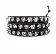 rhinestone leather wrap bracelet images Triple wrap bracelets onsra designer bracelets jpg