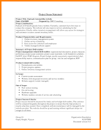 outage report template scope document example ex 8 example of project scope statement packaging clerks